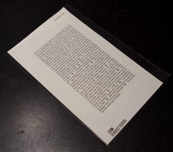 Alexander Brodsky y Ilya Utkin, Cancelled 6/21/90 (versión de dos páginas), L'Esprit de l'escalier, 2017