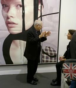 ParisPhoto 2011, Steve Schapiro, y de fondo una imagen de Tina Berning y Michelangelo di Battista