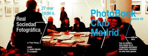 PhotoBookClub Madrid, tertulia el día 27 de Marzo de 2012