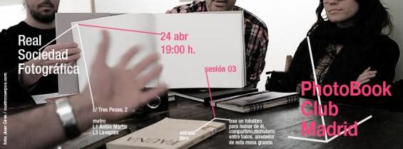 Tercera tertulia de libros de fotografía en Madrid, 24 de Abril de 2012