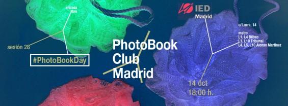 anuncio para la  sesión 28 del PhotoBook Club Madrid, para celebrar el #PhotoBookDay en el IED Madrid Madrid, 14.10.2013